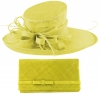 Max and Ellie Events Hat with Matching Large Occasion Bag in Yellow