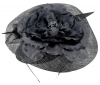 Failsworth Millinery Sinamay Events Headpiece in Shadow