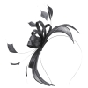 Failsworth Millinery Sinamay Fascinator in Granite