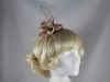 Elegance Collection Flower and Quill Headpiece in Shell
