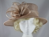 Elegance Collection Sinamay Leaves Occasion Hat in Shell