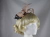 Elegance Collection Loops Fascinator in Shell