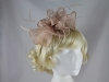 Elegance Collection Waves Fascinator in Shell