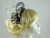 Twist and Quill Fascinator in Silver & Black