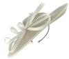 Failsworth Millinery Events Disc Headpiece in Silver & Ivory