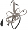 Aurora Collection Fascinator with Loops and Gem in Silver