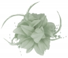 Aurora Collection Flower Fascinator in Silver