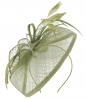 Aurora Collection Sinamay Veil and Leaves