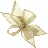 Elegance Collection Diamante Clip Fascinator in Silver