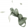 Elegance Collection Loops Clip Fascinator in Silver
