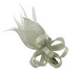 Elegance Collection Loops and Leaves Fascinator in Silver