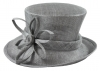 Elegance Collection Sinamay Flower Occasion Hat in Silver
