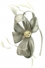 Elegance Collection Sinamay Headpiece Fascinator in Silver