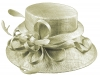Elegance Collection Sinamay Loops Wedding Hat in Silver
