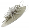 Failsworth Millinery Ascot Feathers Disc in Silver