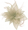 Failsworth Millinery Organza Leaves Fascinator in Silver
