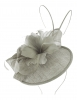 Failsworth Millinery Quills Disc Headpiece in Silver