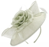 Failsworth Millinery Silk Rose Disc Headpiece in Silver