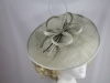Failsworth Millinery Sinamay Disc in Silver