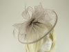 Failsworth Millinery Sinamay Disc Headpiece in Silver
