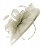 Failsworth Millinery Sinamay Headpiece in Silver