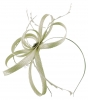 Failsworth Millinery Sinamay Loops Fascinator in Silver
