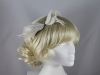 Failsworth Millinery Small Feather Fascinator in Silver