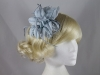 Flower Fascinator in Silver