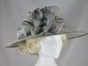 Hawkins Collection Wide Loops Occasion Hat in Silver