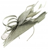 Max and Ellie Ascot Disc Headpiece in Silver