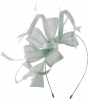 Max and Ellie Flower Fascinator in Silver