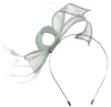 Max and Ellie Sinamay Fascinator in Silver