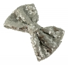 Molly and Rose Sequin Hair Bow in Silver