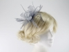 Molly and Rose Two Tone Fascinator in Silver