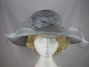 Organza Wide Brim Wedding Hat