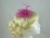 Sinamay Swirl & Ostrich Feather Fascinator in Pink