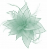 Failsworth Millinery Organza Leaves Fascinator in Sky
