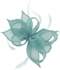 Failsworth Millinery Sinamay Clip Fascinator in Sky