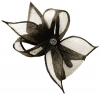 Elegance Collection Diamante Clip Fascinator in Slate
