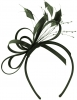 Elegance Collection Satin Loops Aliceband Fascinator in Slate