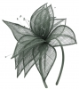 Elegance Collection Sinamay Leaf Fascinator in Slate