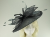 Max and Ellie Ascot Disc Headpiece in Slate