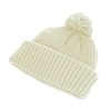 Hawkins Chunky Knit Beanie Hat in Snow White