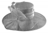 Failsworth Millinery Ascot Hat in Steel