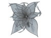 Failsworth Millinery Diamante Organza Fascinator in Steel