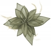 Failsworth Millinery Organza Leaves Fascinator in Steel