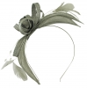 Failsworth Millinery Sinamay Fascinator in Steel