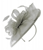Failsworth Millinery Sinamay Headpiece in Steel