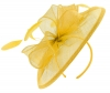 Failsworth Millinery Sinamay Disc Headpiece in Sunflower