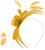Failsworth Millinery Sinamay Fascinator in Sunflower